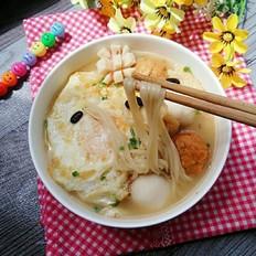 丸子油豆腐鸡蛋面