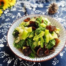 白菜苔炒木耳的做法大全