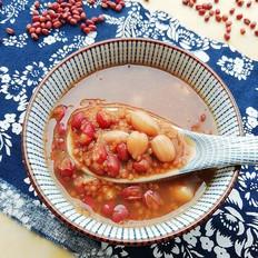 红豆花生小米粥#早餐#