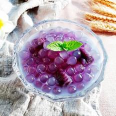 椰汁紫薯西米露