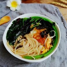 紫菜鸡蛋汤面#早餐#