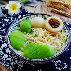 丝瓜鱼丸汤面