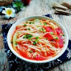 番茄丝瓜汤面
