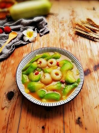 丝瓜炒荔枝的做法