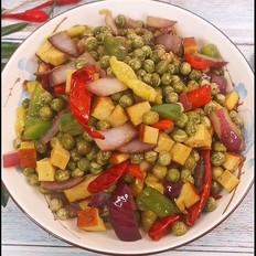 辣炒鮮豌豆