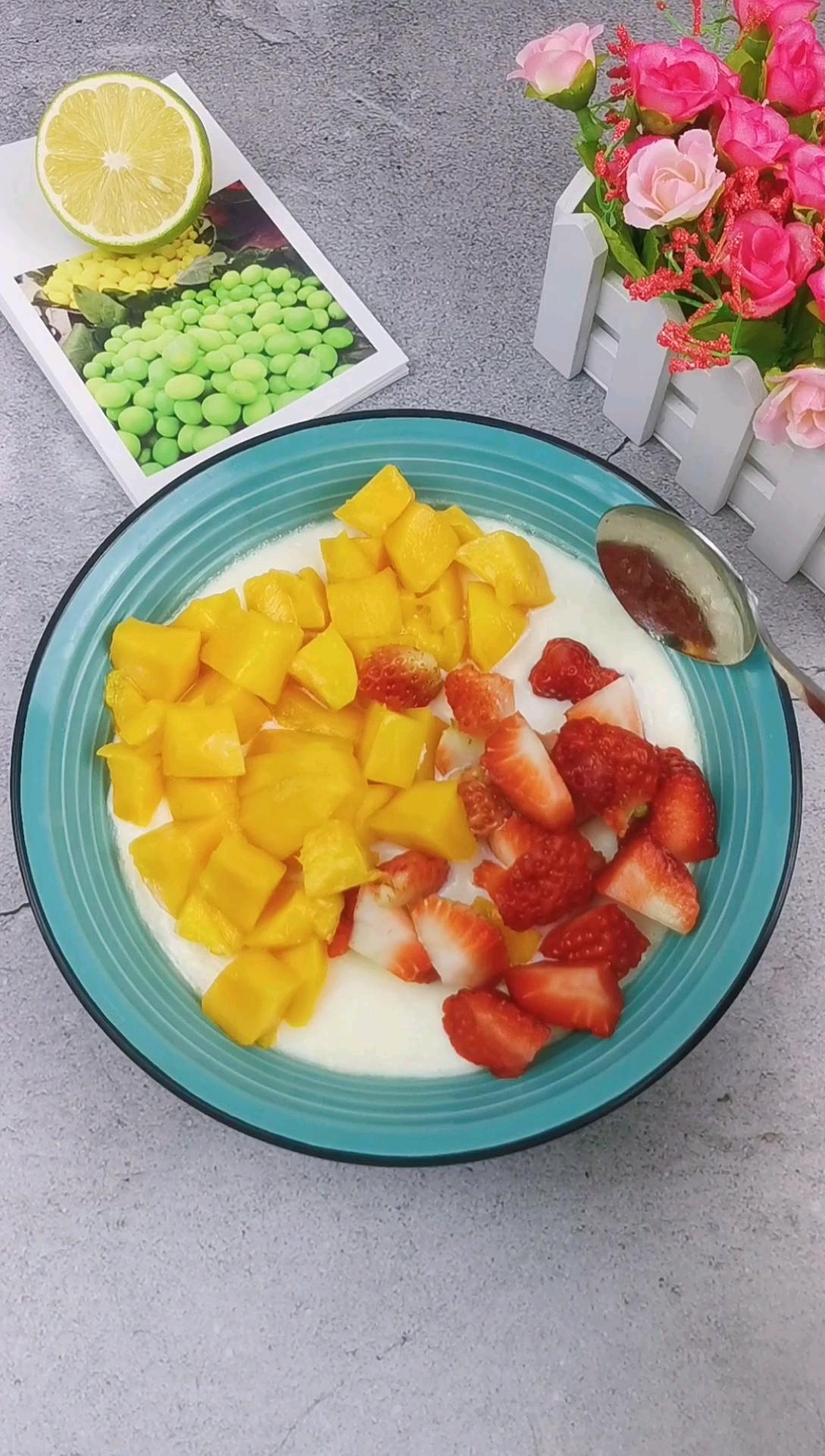水果双皮奶