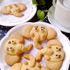 萌哒哒的创意小象饼干