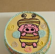 天使蜜蜂麦兜蛋糕