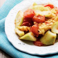 丝瓜西红柿炒蛋