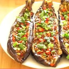 最好吃的烤茄子做法,不炒也不炸,养生又味美,和五珍粉搭配好吃到流口水!