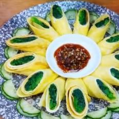 菠菜鸡蛋超好吃做法,不炒不拌,美观又美味,组合五珍粉,营养又养胃