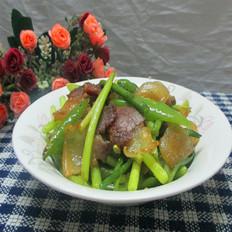 青椒蒜苔炒腊肉