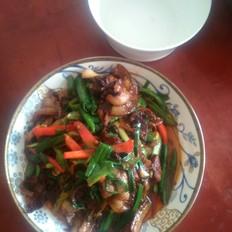 蒜苗青椒回锅肉