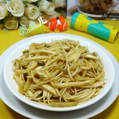 榨菜茭白丝炒面