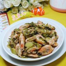雪菜炒籽虾