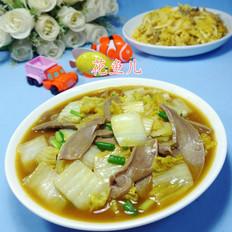 咖喱猪舌头炒娃娃菜