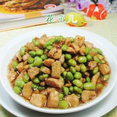 毛豆炒鸡胸肉