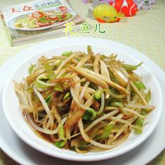 尖椒茭白炒黄豆芽