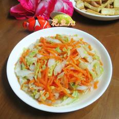 胡萝卜炒大白菜