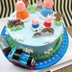 佩琪、托马斯场景蛋糕