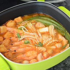辣白菜海鲜锅