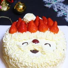 圣诞老人奶油生日蛋糕