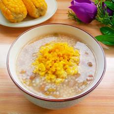 咸蛋黄绿豆小米稀饭