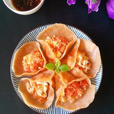 美味番茄鸡蛋饺子