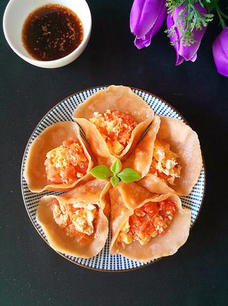 美味番茄鸡蛋饺子的做法