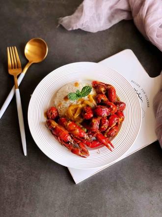 咖喱小龙虾饭的做法