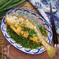 葱油蒜香黄花鱼