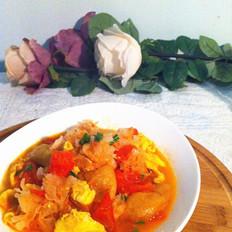 西红柿银耳炒鸡蛋