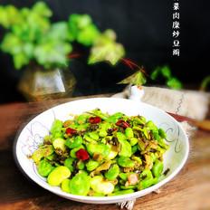 雪菜肉糜炒豆瓣