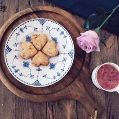 藜麦玫瑰桃心饼干