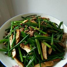 韭菜苔炒牛肉香干