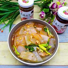 香菇小丁酱炒凉粉