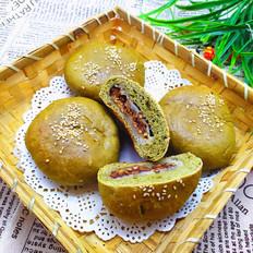 青菜蜜豆面包