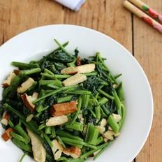 豆腐干炒空心菜