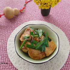 韭菜虾皮烧豆腐