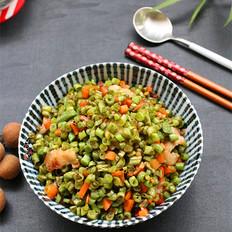 豆角胡萝卜炒肉
