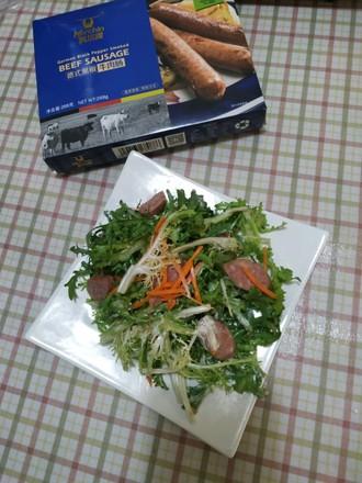 """霸王超市丨科尔沁德式黑椒牛肉肠与你的""""轻食光的做法"""