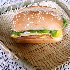 美味培根汉堡
