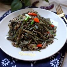 眉豆炒虾酱(当季食材就是鲜)