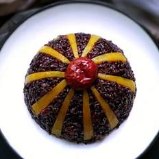 金瓜黑米饭