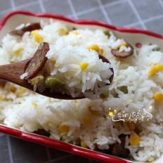 香腸玉米青豆飯