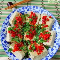 剁椒香菜蒸臭豆腐