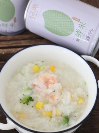虾仁蔬菜粥的做法