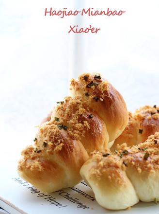 香葱肉松号角面包的做法