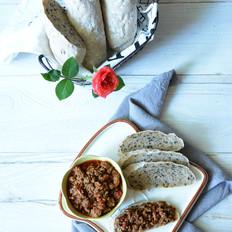 牛肉酱抹面包