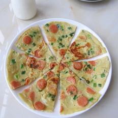 葱香火腿鸡蛋饼